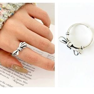Restocked🎀S925 Vintage Bow Knot Adjustable Ring